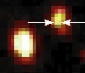 Imagem com a supernova